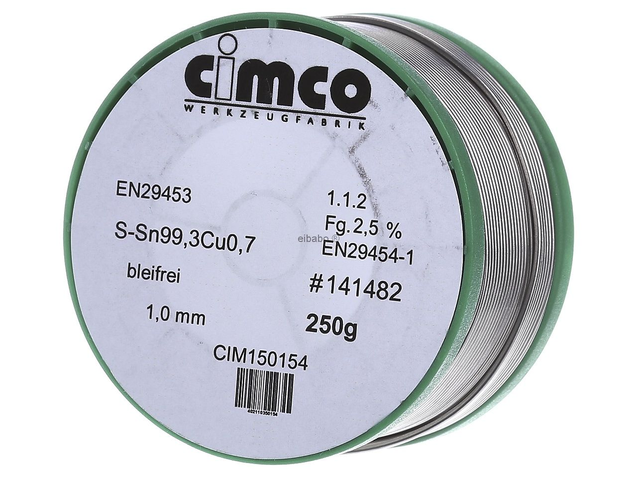 Cimco Elektroniklot 60/% 1,5mm 250g 15 0064